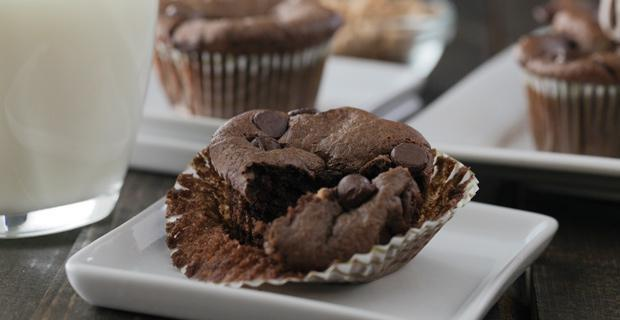 chocolade pindakaas muffins