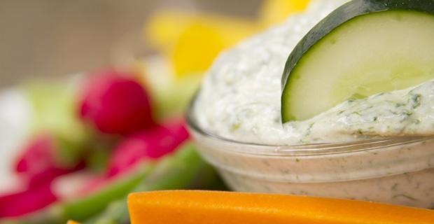 creamy spinazie dip voor groente