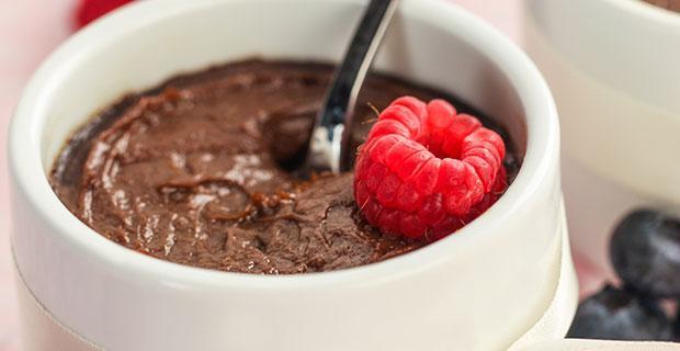 vegan chocolade mousse
