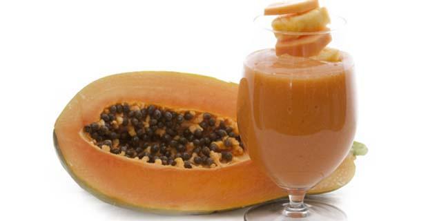 papaya ice smoothie