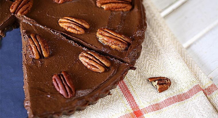 wereld chocoladedag. chocolade/pecan